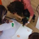 Pfötchenabdruck-Training im Rahmen der Besuchshundeausbildung im TAZ